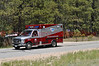 Falcon Fire Department Ambulance heading down Meridian Road during the Black Forest Fire Incident.