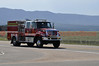 One of the many fire engines assigned to the Black Forest Fire Incident, north of Colorado Springs, Colorado, USA.