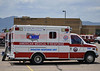 AMR Disaster Response Unit 731, staged at Pine Creek High School, due to the Black Forest Fire Incident, near Colorado Springs, Colorado.