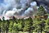 This pic is a look back at fire conditions with the Black Forest Fire, on the afternoon of June 11, 2013. This massive fire has been devastating to the Black Forest Community, as the El Paso County Sheriff's Office reports that 360 homes have been destroyed.<br /> <br /> Day 3 coverage of the Black Forest Fire in the Northeast part of El Paso, Colorado, United States of America.<br /> Approximately 15,000 acres have burned, with 360 homes destroyed. An estimate of 500 fire fighters are on the scene working this massive blaze.<br /> Mandatory Evacuations: North to County Line Road, west to Highway 83, east to Eastonville Road, and south to Burgess Road.<br /> Pre-Evacuation Areas:<br /> NEW: I-25 east to Hwy 83, from Northgate Blvd to Hwy 105 <br /> Area 1 - Burgess Road south to Stapelton Drive, and Vollmer Road east to Meridian Road. <br /> Area 2 - Latigo Blvd. south to Stapelton Drive, and Meridian Road east to Highway 24. <br /> Area 3 - Guy Ranch Road south to Stapelton Road, and Eastonville Road east to Elbert Road. <br /> Area 4 - Burgess Road south to Old Ranch Road and Poco Road, and Milam Road east to Vollmer Road.<br /> <br /> The El Paso County Disaster Assistance Center will open today, June 13, 2013, at 8 a.m. in the El Paso County Citizens Service Center at 1675 Garden of the Gods Road. The Disaster Assistance Center will bring together representatives of major insurance companies, El Paso County Public Health, healthcare providers, the Pikes Peak Regional Building Department, utilities providers, the Colorado Department of Local Affairs Office of Emergency Management, grief counselors and local non-profits offering services to residents impacted by the Black Forest Fire.<br /> <br /> SHELTERS:<br /> Human shelters have been established at Palmer Ridge High School & Elbert County Fairgrounds. (New Life Church is closed due to smoke) <br /> Large Animal Shelters are established at the Elbert County Fairgrounds 303-718-3343 and El Paso County Fairground