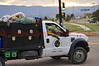 Wildland Fire Fighters on the Black Forest Fire Incident entering the Command Post off of Powers Boulevard in Colorado Springs.
