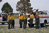 Task Forces, on Day 3, established in Douglas County along Highway 83 to monitor possible embers coming in to the area from the Black Forest Fire and the threat of possible dry lightning.<br /> <br /> Planned actions for this Black Forest Fire Incident: <br /> Continue to anchor, flank and pinch where fire and terrain allow. Continue structure protection and maintain evacuations.<br /> 400 homes have already been destroyed  from this massive wildfire that started on Tuesday afternoon, June 11, 2013<br /> <br /> Evacuations and road closures are still in effect. A thunderstorm passed through the area today with lightning, strong winds and some precipitation. A new start north of the fire area started but fire fighters responded quickly and supressed it. VIPs visiting the fire today included Governor Hickenlooper, Senators Bennet and Udall and State Senator Lambert.
