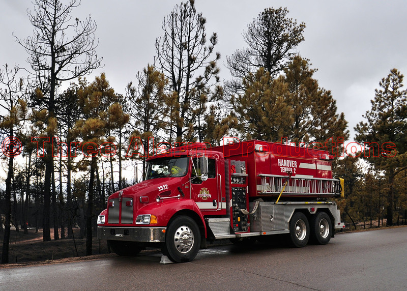 Hanover Fire, Tender 2, assigned to the Black Forest Fire Incident.