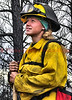 A wildland fire fighter working on Day 7 of the Black Forest Fire Incident.<br /> <br /> Fire Facts: <br /> Date started: June 11, 2013 <br /> Number of Personnel: 1130 <br /> Location: Black Forest, Colorado in El Paso County <br /> Crews: 17 <br /> Size: 14,280 acres <br /> Engines: 101 <br /> Percent Contained: 65% <br /> Estimated Containment: 06/20/2013 <br /> Dozers: 5 <br /> Water Tenders: 32 <br /> Cause: Under investigation <br /> Helicopters: 1 Type 1 and 1 Type 3 <br /> Structures lost: 480 <br /> Injuries to Date: 1 <br /> Cost to Date: $5,555,950 <br /> Yesterday's Events: <br /> Firefighters again made good progress in containing the fire. Fire behavior was reduced to creeping and smoldering due to improved weather conditions. Thunderstorms brought .11 inches of precipitation to the fire area which aided firefighters in their suppression efforts. The storm also produced lightning that ignited three new fires near the Black Forest Fire which were quickly suppressed by firefighters.<br />  <br /> Today's Forecast and Activity: <br /> Today's temperatures will increase slightly with a predicted high of 78 degrees. Thunderstorms will continue their pattern of entering the fire area in the early afternoon with some precipitation expected along with possible lightning activity. Fire spread is predicted to be minimal due to higher relative humidity and cool temperatures.<br />  <br /> A continuing threat exists to structures within the fire perimeter due to the potential for extreme fire behavior from gusty winds from developing thunderstorms. The potential for re-burn from remaining hot spots within the ground fuels remains a concern. Firefighters will continue to grid the fire area for hotspots, especially around structures.<br />  <br /> El Paso County Sheriff's Office will continue to perform damage assessments on structures in the fire area.<br />  <br /> Due to decreasing demands from the incident, some resources are being released and made available for response for other incidents as needed.<br />  <br /> Evacuations and Closures Some areas around the fire have now been reopened for residents. For specific information pertaining to evacuations and area closures go to rsg.epcsheriff.com or contact the Joint Information Center at 719-444-8300.