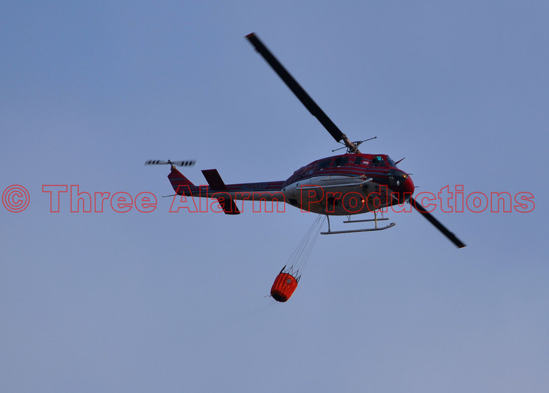 Aerial firefighting on the Waldo Canyon Fire, Colorado Springs, Colorado, USA.