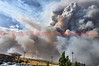 Disaster strikes, as the Waldo Canyon Fire is now destroying the Northwest residential areas of Colorado Springs on the afternoon of June 26, 2012.