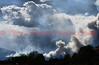 A view of the smoke plumes from the Waldo Canyon Fire on June 26, 2012, from Palmer Park Boulevard and Peterson Road in Cimarron Hills, Colorado.