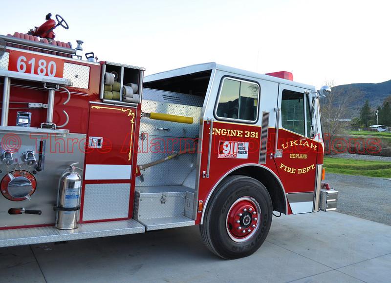 Ukiah Fire Department's Fire Engine 331.
