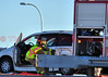 A traffic accident requiring extrication at Platte and Powers, Colorado Springs.