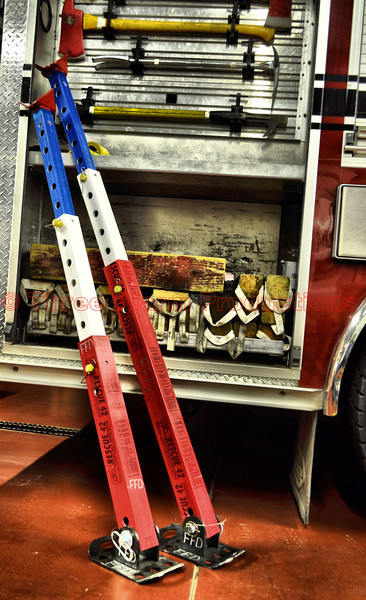 "A new set of ""Rescue 42 Telecrib Struts"" on Falcon Engine 313.<br /> The TeleCrib® struts are a lightweight, compact, telescoping stabilization tool designed for rescuer and patient safety during vehicle extrication."