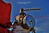 Pump on antique fire engine