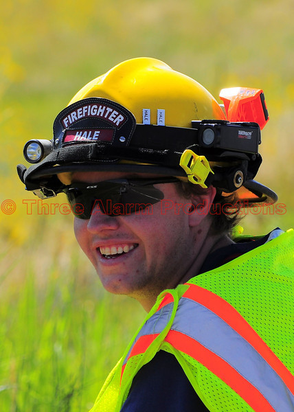 Firefighter Hale with Peyton Fire Protection District, Colorado.