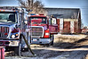 Peyton Fire Tender 3660 operating on the scene of a structure fire off of Highway 94.