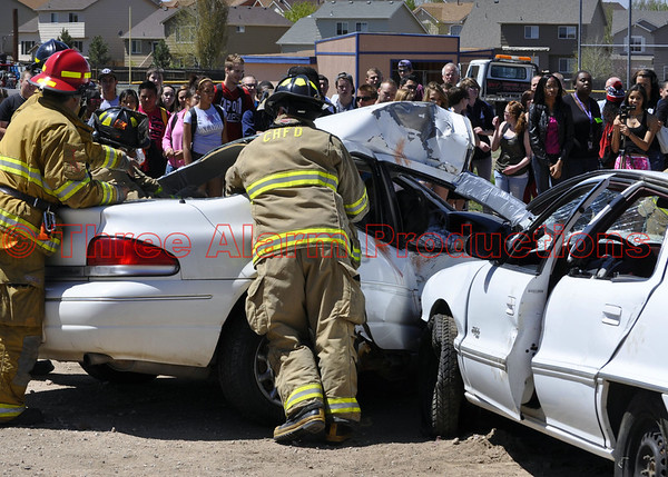 Traffic Accident Mock-up Sand Creek High School