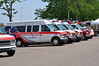 American Medical Response building up units and medics at Colorado Springs Area Staging on Sunday for support on the Waldo Canyon Fire that is threatening Colorado Springs Neighborhoods.