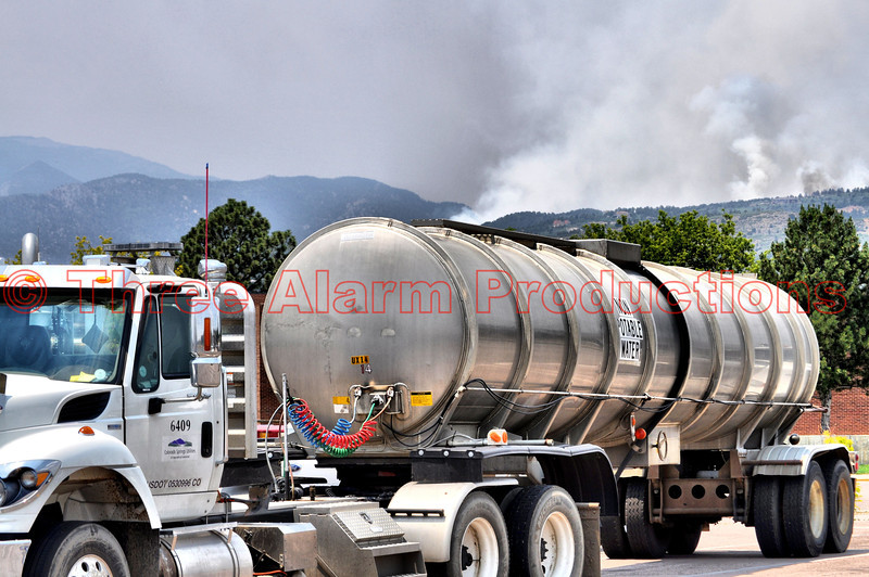 Portable water unit from Colorado Springs Utilities, on the scene of the Waldo Canyon Fire Incident.
