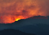 The sun setting on day 2 of the Waldo Canyon Fire.