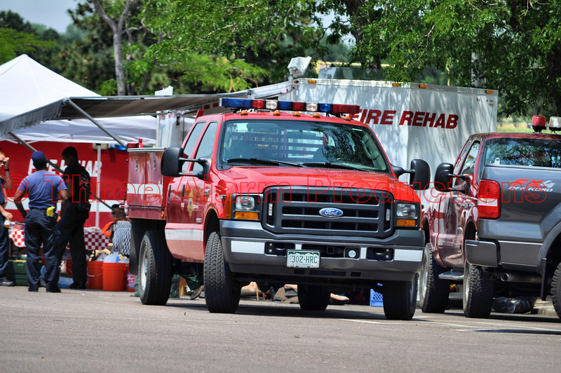 Staging Area at Coronado High School, Colorado Springs, Colorado for resources assigned to the Waldo Canyon Fire Incident.