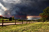 The Waldo Canyon Fire gaining destructive power as seen from Palmer Park in Colorado Springs, Colorado.