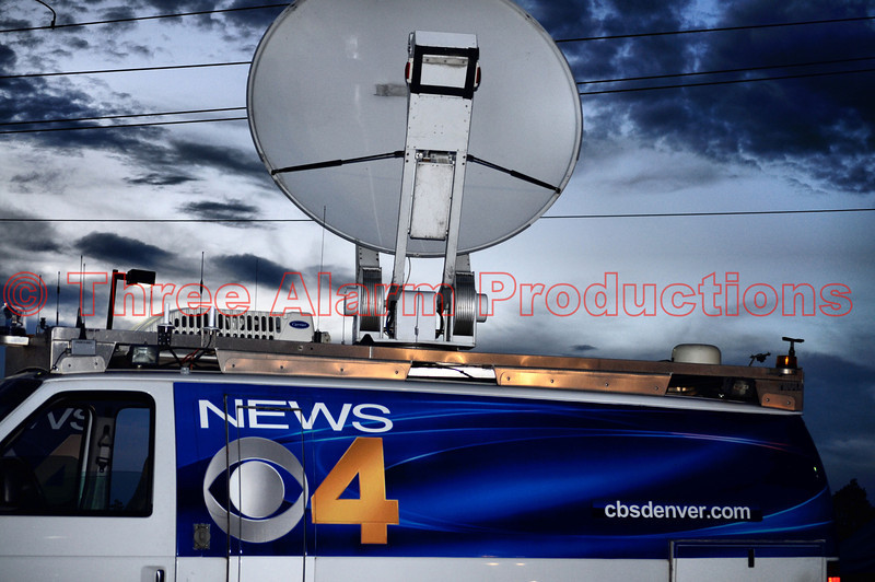 CBS Denver News 4 doing live coverage of the Waldo Canyon Fire.