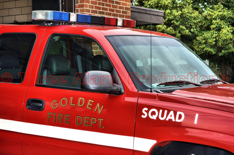Golden Fire Department Squad 1 filling in at Colorado Springs Station 6.