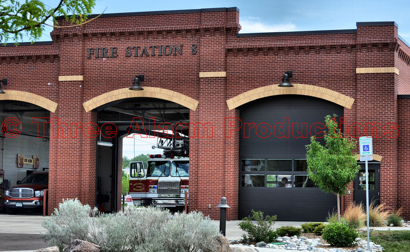 Security Ladder Truck doing a fill-in for Colorado Springs Fire Station 8 because of the Waldo Canyon Fire.