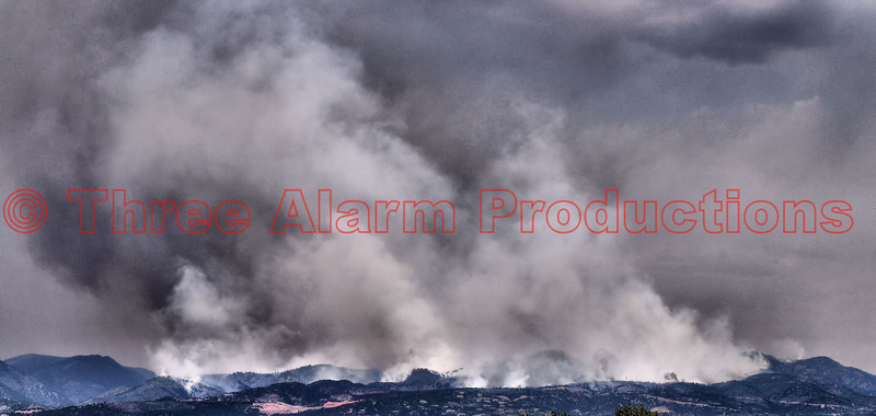 Waldo Canyon Fire El Paso County, Colorado USA Day 9 News July 1, 2012