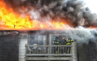 Fire guts four units