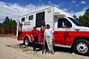 American Red Cross Disaster Relief crews on the scene of the Black Forest Fire Incident.