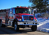 Pueblo County Sheriff's Office Emergency Services-Fire Engine 3, responding back to the scene of a structure fire in Rye, Colorado. November 27, 2013