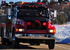 Buelah Fire Department's Tender Truck 91 heading back to the scene of a structure fire in Rye, Colorado.