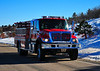 Pueblo County Sheriff's Office Emergency Services-Fire Engine 3, responding back to the scene of a structure fire in Rye, Colorado.