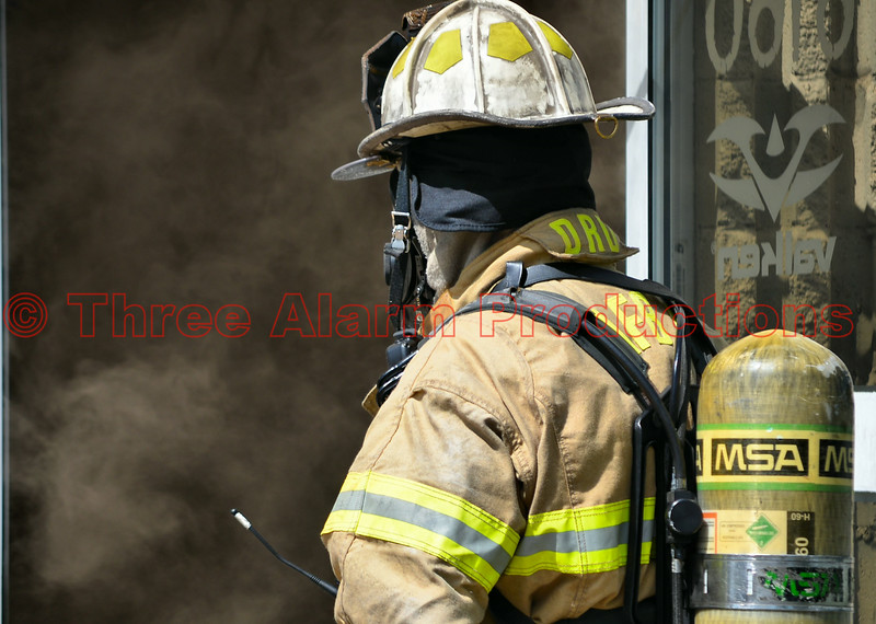 Peterson Air Force Force Base Assistant Fire Chief on scene of a working commercial building fire with Cimarron Hills FD at Valken Sports. August 7, 2014