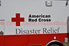 American Red Cross Disaster Relief Personnel on the scene of the Black Forest Fire Incident, assisting residents.