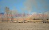 Winds pushing the fire south, on a wildland fire in eastern El Paso County, Colorado. March 28, 2015
