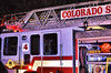 Colorado Springs Ladder Truck 4 on the scene of a 3-Alarm apartment fire.