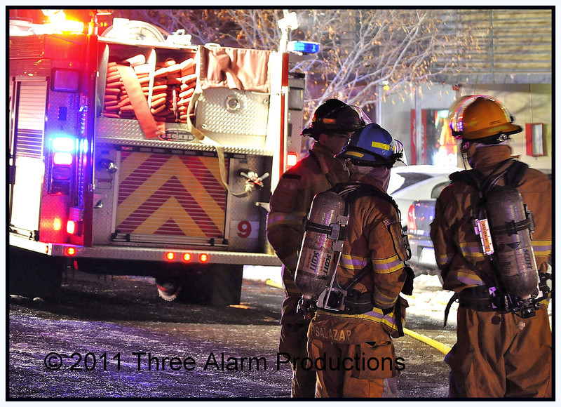 """Colorado Springs Fire Department on scene of a structure fire at """"Fillmore Crossing Apartments"""""""