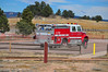 Black Forest Fire & Rescue, Engine 710 heading to the staging area, at the New Sante Fe Trailhead, for the Monument fire on November 8, 2013.