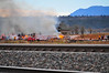 This is the BNSF Railway that was temporarily shut down, due to a wildland fire along the tracks in Monument, Colorado.