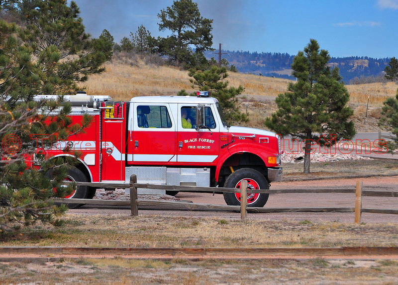 Black Forest Fire & Rescue, Engine 710 heading to the staging area, for the Monument fire on November 8, 2013.