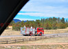 Palmer Lake Fire Engine 2015 en route to the fire incident in Monument, Colorado.