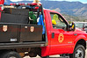 Palmer Lake Volunteer Fire Department's Brush Truck 2040, heading to the Monument fire on November 8, 2013.