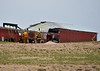 Simla and Calhan firefighters work together to bring a barn fire under control.  Date of incident-May 16, 2014