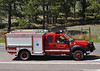 Black Forest Fire Rescue Brush Unit No. 742 on the Black Forest Fire.