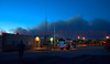 Smoke plume from the Black Forest Fire Incident, as seen from the Falcon Fire Station, off of U.S. Highway 24, on the evening of DAY 1, June 11, 2013.