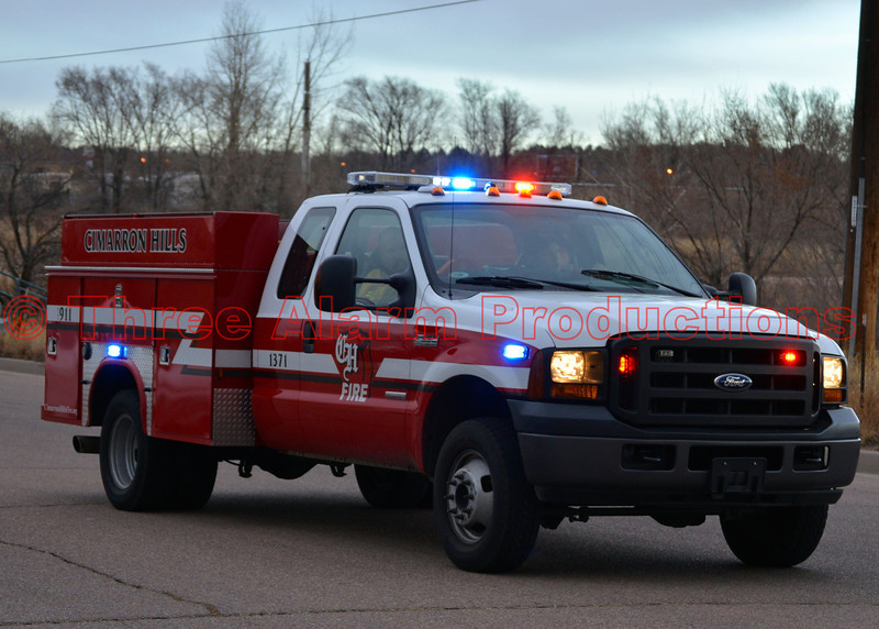 Cimarron Hills Squad 1371 responding to an outside fire at 5225 E. Platte Avenue, mutual aid with the City of Colorado Springs.