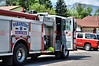 Colorado Springs Fire Department's Engine 14 on the scene of a structure fire on Viking Drive.
