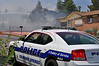 Colorado Springs Police on the scene of a fully involved house fire.