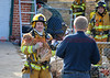 A dog rescued from a house fire on Monterey Road in Colorado Springs.