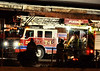 Pueblo Fire Department Truck 1 on the scene of Alpha Beta Meat Packing Plant fire on Tuesday Night, January 1, 2013.